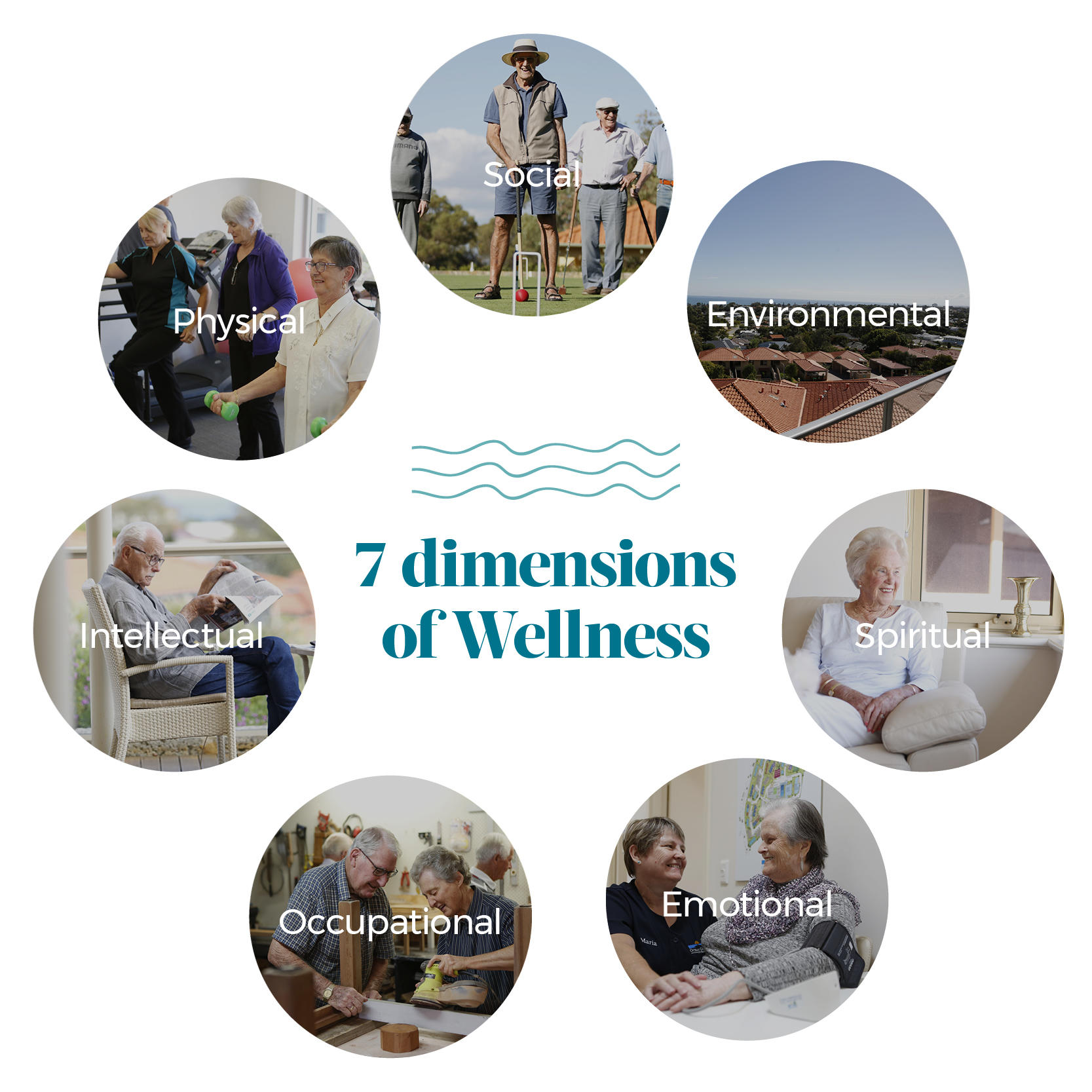 7 dimensions of wellness at ocean gardens