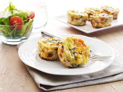 Pumpkin, leek and feta mini frittata | easy recipes | ocean gardens