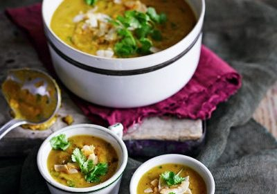 Red lentil sweet potato coconut soup recipe Perth