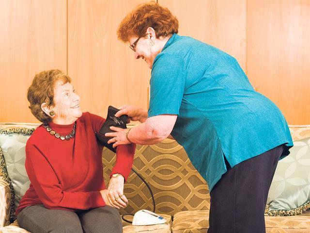 Blood pressure and sugar level checks retirement facilities