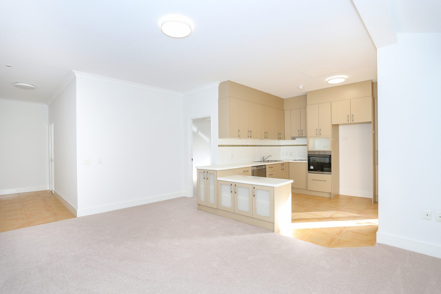 living area of apartment for sale in city beach at ocean gardens retirement village