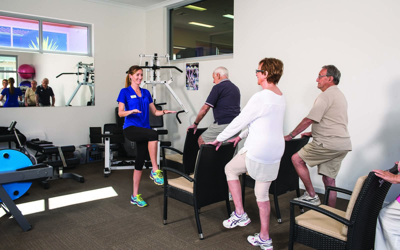 gym facilities for retired people