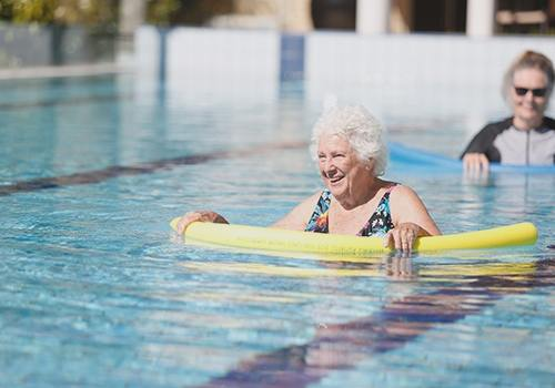 retirement village in perth with a pool
